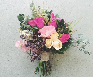 berries, bouquet, and bride image