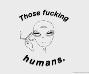 alien, cool, and humans image
