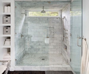 bathroom, bath, and decor image