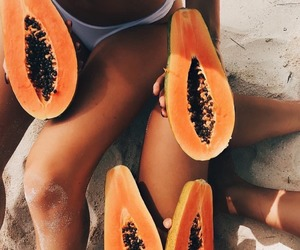 beach, summer, and food image