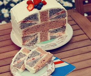 cake, england, and food image