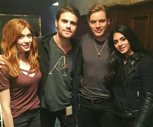 paul wesley, shadowhunters, and emeraude toubia image
