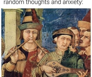 funny, memes, and anxiety image