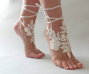 etsy, lace shoes, and wedding dresses image