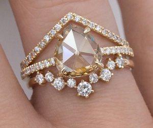 beautiful, bride, and diamond ring image