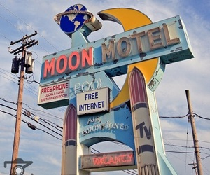 aesthetic, motel, and moon image