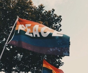 peace, love, and lgbt image
