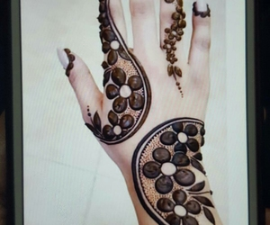 arab, beautiful, and henna designs image
