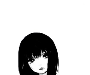 anime, manga, and black and white image