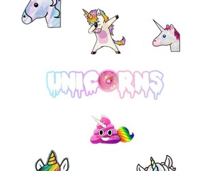 colorful, cool, and unicorn image