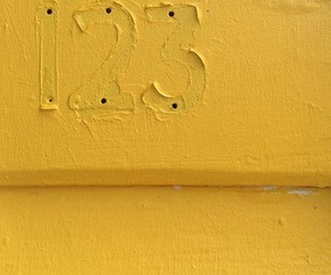 wall, yellow, and number 123 image