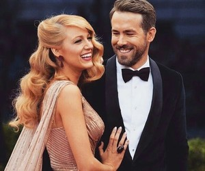 couple, blake lively, and ryan reynolds image