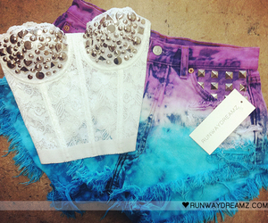 fashion, bustier, and shorts image
