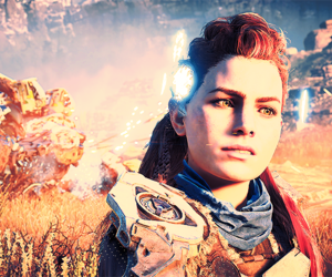 horizon, video game, and aloy image