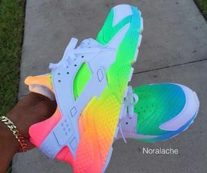 shoes, nike, and rainbow image
