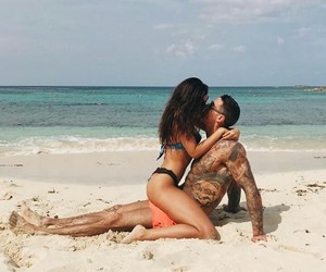 beach, couple, and goals image