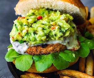 avocado, burger, and mango image