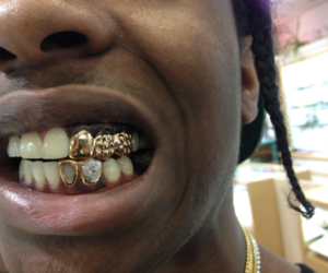 asap rocky, gold, and ghetto image
