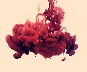 red and smoke image