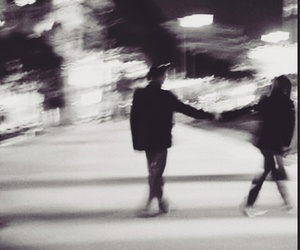 love, couple, and black and white image