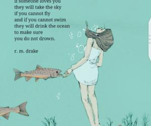 ocean, people, and sky image