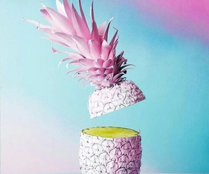 pink, fruit, and pineapple image