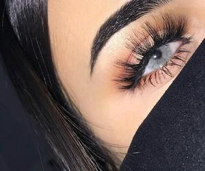 eyebrows, beauty, and girl image