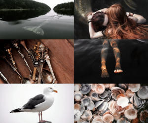 ariel, the little mermaid, and { aesthetic } image