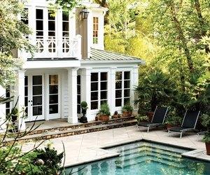 house, pool, and home image