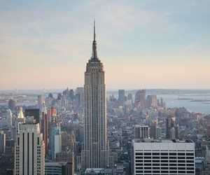 city, newyork, and empire state building image