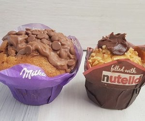 food, nutella, and milka image