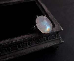 etsy, moonstone jewelry, and witchy jewelry image