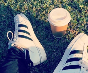 adidas, coffee, and outdoors image