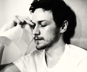 james mcavoy and black and white image