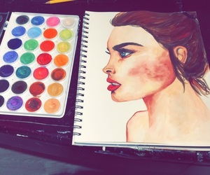 art, artwork, and portrait image