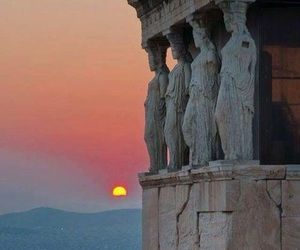 Greece, sunset, and Athens image