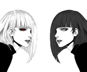 tokyo ghoul, anime, and black and white image