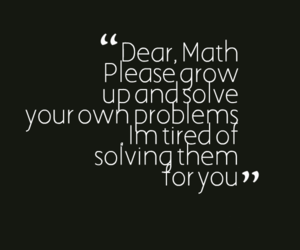 funny, math, and quotes image