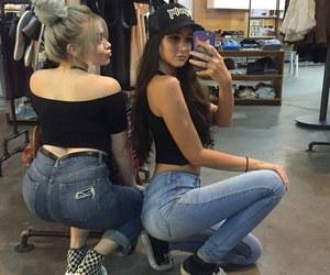 girls, friendship, and best friends image