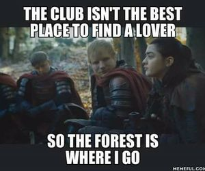 game of thrones and ed sheeran image