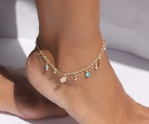 fashion, ankle bracelet, and jewellery image
