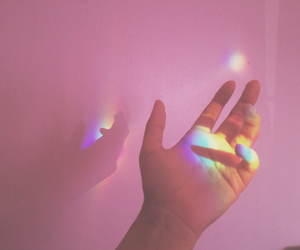 aesthetic, rainbow, and pink image