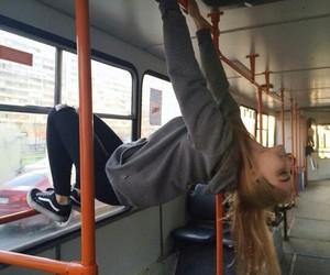 girl, bus, and grunge image