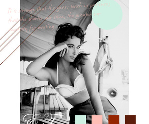 Collage and Elizabeth Taylor image
