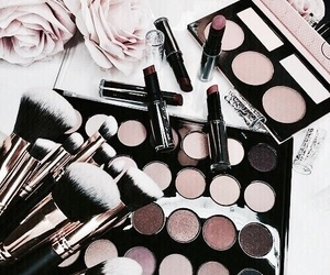 beauty, cosmetics, and flowers image