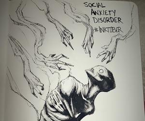 art, disorder, and drawing image