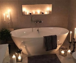 bathroom, luxury, and candle image