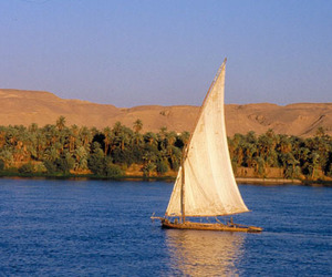 ancient, boat, and egypt image