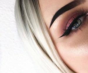 girl, make up, and eyes image