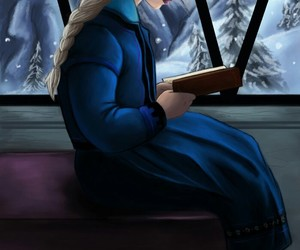 childhood, frozen, and snow image